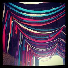 guirnaldas de telas de colores