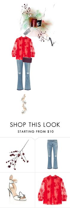"""""""Untitled #1460"""" by maja-z-94 ❤ liked on Polyvore featuring Crate and Barrel, Fendi, Simone Rocha and Rodo"""