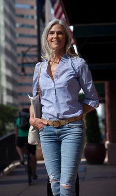 Resultado de imagen para mujeres de pelo corto con jeans y cinturones 6ae947ff3cd6