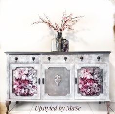 """Re•design with Prima®️ on Instagram: """"Introducing Esmee, our decoupage decor tissue paper made especially for furniture.  Thicker, fibrous  and tear resistant.   repost…"""" Diy Furniture Renovation, Sideboard Buffet, Tissue Paper, Decoupage, Painting, Instagram, Design, Home Decor, Stylish"""