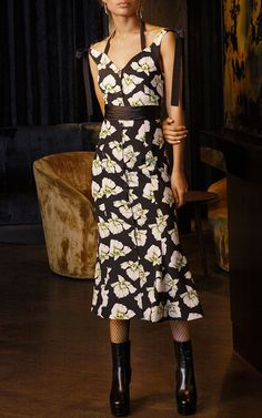 Blakely Flared Floral Midi Dress by CINQ À SEPT for Preorder on Moda Operandi