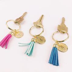Pretty monogrammed tassel keychain - only $18
