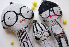 Loving the 'Jersey' Family of the Three Amigo's from Corby Tindersticks for winter 2013's lucky children.