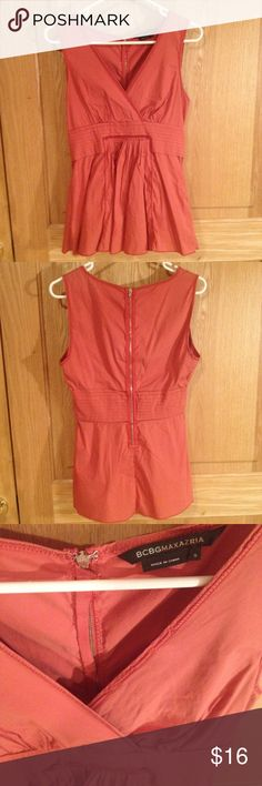 BCBG pink top, small Zipper in back . Sleeveless BCBGMaxAzria Tops Blouses