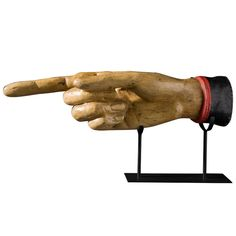 Pointing Hand Trade Sign