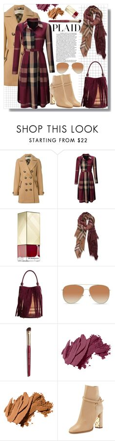 """Check It: Plaid"" by queenvirgo ❤ liked on Polyvore featuring Burberry, WithChic and Bobbi Brown Cosmetics"