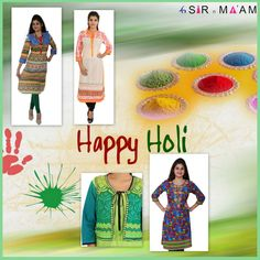 On  this #Holi #celebration #SirnMaam Offering #Colorful #kurtis Collection with affordable price!! #WomenFashion #Fashion #Style #HappyHoli #EthnicWear #Festival  Buy Here  - http://www.sirnmaam.com/