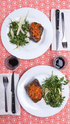 Dinner For 2: Steak and Salad
