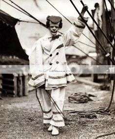 Creepy Scary Circus Clown Vintage Antique Photograph - Digital Download Printable Image - Paper Craf