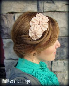 Headband for Women, Nude Flower Headband for Adults and Girls. $13.00, via Etsy.