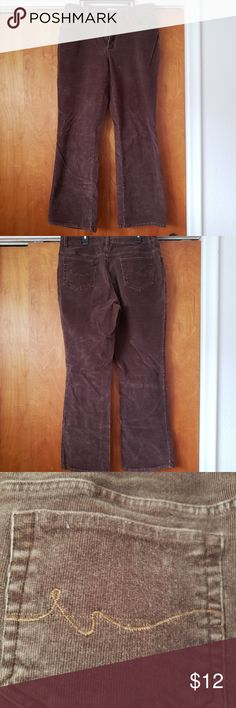 """Jean's St. John's Bay Corduroy Jean's with decorative stitching on the back pockets  Size 12 98% cotton  / 2% spandex  31"""" inseam St. John's Bay Jeans Flare & Wide Leg"""