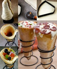 exemple recette pizza cone