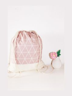 Nice backpack with a great triangle print. ** Customization options ** We gladly accept color reques Grunge Fashion, Diy Fashion, Tote Bags, Do It Yourself Fashion, Triangle Print, String Bag, Simple Bags, Cool Backpacks, Diy Embroidery