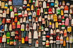 Lobster Buoys in Cape Cod, MA