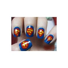 superman nail art design The Superman Nail Art Fancy Nails, Love Nails, How To Do Nails, Pretty Nails, Smallville, Superman Nails, Superhero Nails, Superman Logo, Pedicure