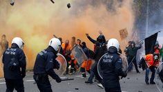 Δεκάδες συλλήψεις σε επεισόδια ανάμεσα σε ακροδεξιούς και αντιρατσιστές στις Βρυξέλλες