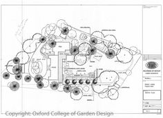Contemporary Country garden using traditional features in a modern way