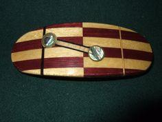 Wood Wooden Barrette Hairclip Purple heart / by Thingsinwood18, $54.00