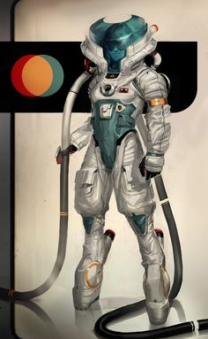 Space suit designs series on Behance