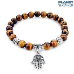 Hamsa Fatima Natural Stone Bracelet Variants] - Ring to Perfection Hand Bracelet, Stone Bracelet, Cheap Bracelets, Bangle Bracelets, Bracelet Charms, Stretch Bracelets, Sea Glass Jewelry, Stone Jewelry, Crystal Jewelry