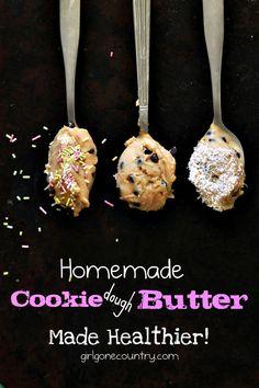 Homemade Cookie Dough Butter from girlgonecountry.com