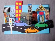 classroom crafts, city collage, collage art, cut outs, kids crafts Community Helpers Crafts, Community Helpers Kindergarten, Kindergarten Art, Preschool Crafts, Crafts For Kids, Art Crafts, City Collage, Collage Art, Collage Ideas