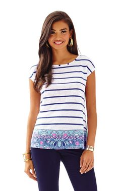 Aimee Top - Lilly Pulitzer Multi Sea Jewels Engineered Aimee Top A