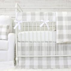 Fletcher's Farmhouse Bumperless Crib Bedding