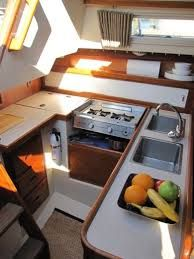 Image result for sailboat interior countertops