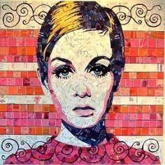 Sandhi Schimmel Gold creates creates beautiful mosaic portraits out of junk mail. http://greenupgrader.com/18770/junk-mail-art/