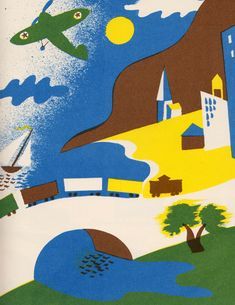 Country Noisy Book by Margaret Wise Brown, illustrated by Leonard Weisgard, 1940.