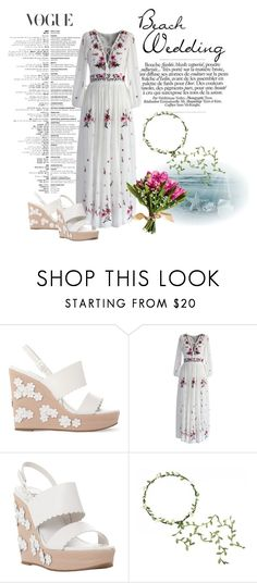 """Beach Wedding ..."" by adelinejaned on Polyvore featuring Dune and Chicwish"