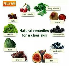 Natural remedies for a clear skin.