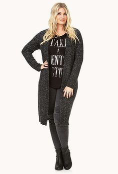 Laid Back Heathered Cardigan | FOREVER21 PLUS - 2000110059 #17 Forever Holiday