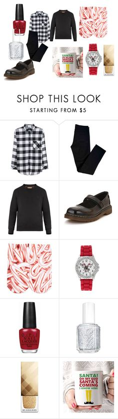 """""""Merry Christmas to all of my Polyvore friends near and far!!!!"""" by shycoygirl65 on Polyvore featuring Rails, J Brand, Burberry, Dr. Martens, Free Press, Kim Rogers, OPI and Essie"""