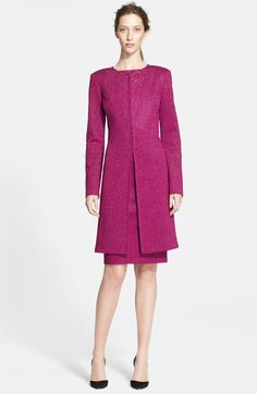 St. John Collection Sequin Embellished Sparkle Milano Knit Topper available at #Nordstrom