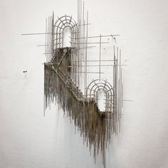 Floating Staircase Sculptures Made with Wire Look Like 3D Architecture Sketches [My Modern Met](http://mymodernmet.com/david-moreno-3d-sketch-wire-sculptures/)