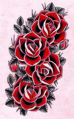 цветные татуировки розы цветы: 26 тыс изображений найдено в Яндекс.Картинках
