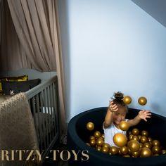 Ritzy Toys » Ballenbak / Ball Pit zilver edition