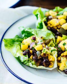 Chipotle Black Bean Lettuce Wraps | a Couple Cooks
