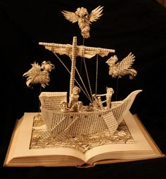 """The Odyssey"" book sculpture (artist: Jodi Harvey-Brown)"