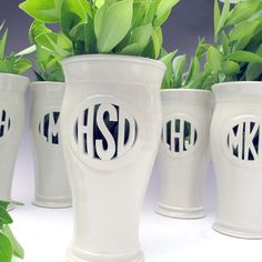 Handmade Monogram Vase. I also have to have this. Monogramming is a southern girl obsession. FACT.
