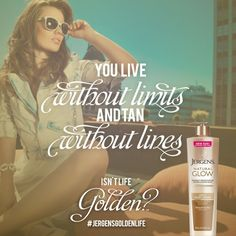 When you live the Golden Life with JERGENS® Natural Glow® Moisturizers, you live life to the fullest, and tan lines never get in your way. Enter the JERGENS® Golden Life Sweepstakes for chance to win 1 of 130 Golden Grab Bags filled with dazzling prizes: http://www.jergens.com/golden-life/ #JergensGoldenLife #Sweeps