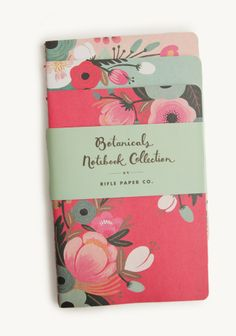 Botanicals Notebook Collection By Rifle Paper Co. - I have these and they're BEAUTIFUL.