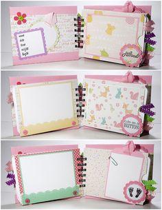 Baby Girl Scrapbook Mini Album Premade Sweet by ScrapbookGallery, $25.00
