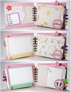Baby Girl Scrapbook Mini Album Premade Sweet by ScrapbookGallery
