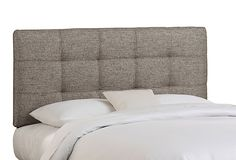 I love the look of upholstered headboards, so easy to make too!