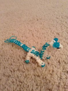 This is my Rainbow Loom Dragon figure that I made.