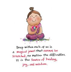 the source of healing, joy and wisdom - Buddha Doodles