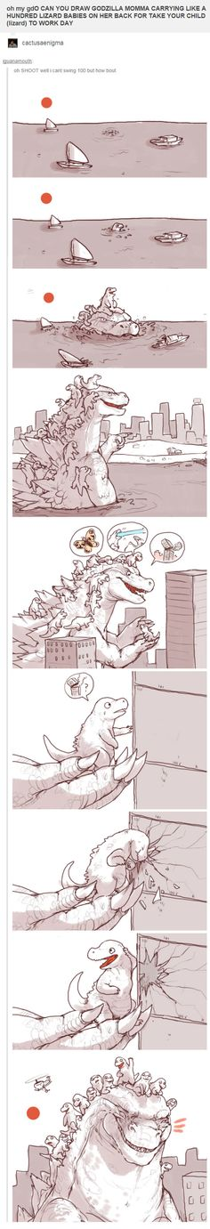 Can you draw Godzilla?